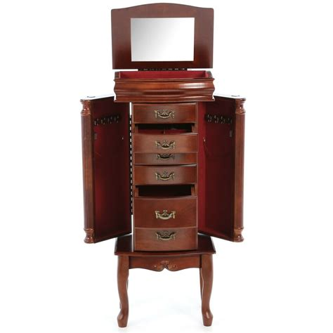 Armoire Jewelry Chest by Antique Vintage Armoire Jewelry Box 6 Drawer Storage Chest