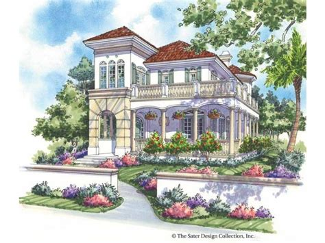 Italianate Style 2 Story 3 Bedrooms(s) House Plan With
