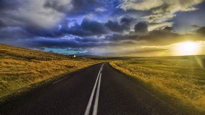 Road Sunrise Nature Wallpapers Landscape Background Roads
