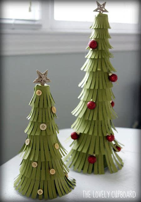 christmas decoration useing construction paper crafts table top tree diy projects