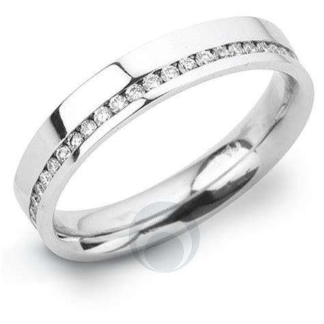 channel diamond platinum wedding ring wedding from the platinum ring company hitched co uk