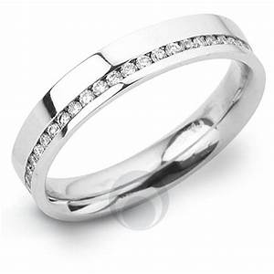 Channel diamond platinum wedding ring wedding dress from for Platnium wedding ring