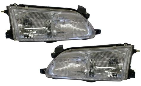 new replacement headlight assembly pair for 1993 97 toyota corolla ebay