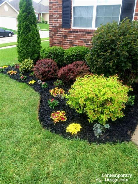 Home Depot Front Yard Design by Gorgeous Black Mulch Landscaping Ideas Outdoor Design