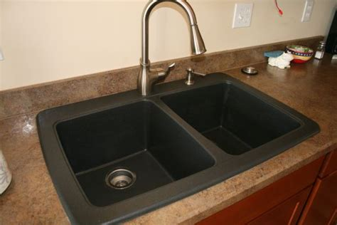 how to clean a black kitchen sink battle of the black granite composite sink whimsy gal 9317