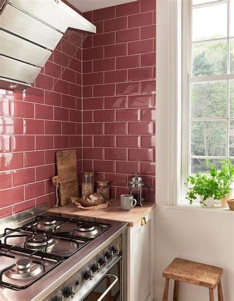 pink tiles kitchen 30 timeless and chic glossy tile decor ideas digsdigs 1504