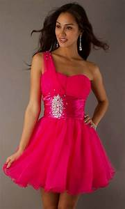Short Pink Homecoming Dresses With Straps - Formal Dresses