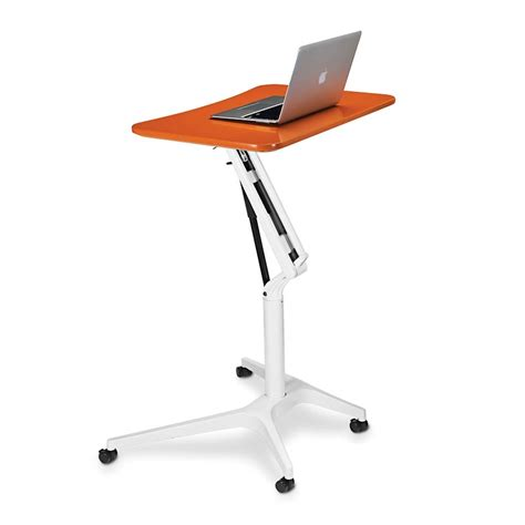 Levenger Desk Stand by Sit To Stand Rolling Workstation Levenger 174