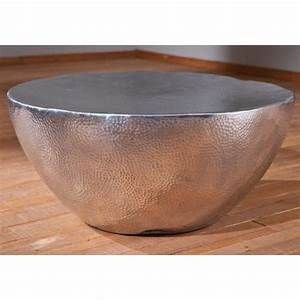 Table Basse Ronde Aluminium : table basse ronde en aluminium argent brillant dim l 70 x h 30 x p 70 cm achat vente ~ Teatrodelosmanantiales.com Idées de Décoration