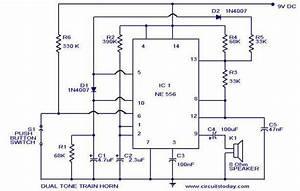 Dual Tone Train Horn Circuit  U2013 Circuit Wiring Diagrams