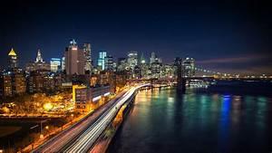 Wallpaper : lights, city, cityscape, night, reflection ...