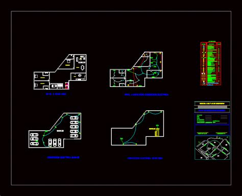 electric luminaries plano detached house dwg block for
