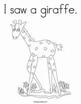 Coloring Saw Giraffe Getcolorings sketch template