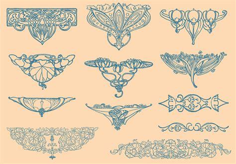 Art Nouveau Vector Elements