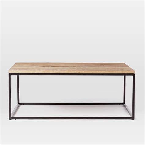 west elm end table box frame coffee table raw mango west elm