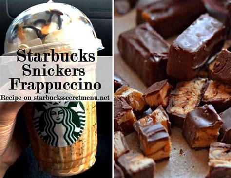 starbucks caramel  nut chocolate bar frappuccino