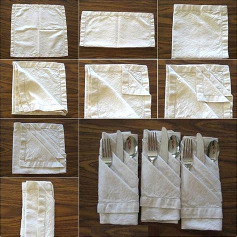 diy french pleats napkin fold