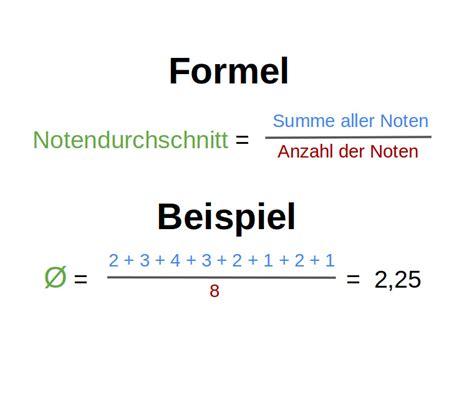 notendurchschnitt berechnen  grundschule