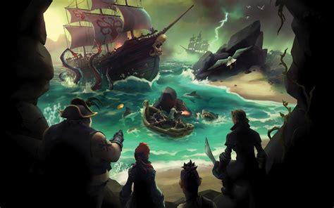 wallpaper sea  thieves gamescom  pirates