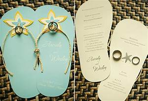 flippin39 over flipflop wedding invites weddings in the With diy wedding invitations ideas philippines