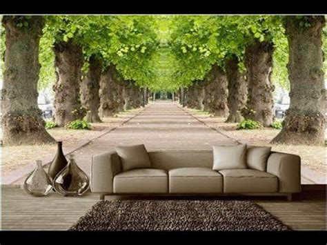Stylish 3d Wallpaper Designs For Living Room Walls Youtube
