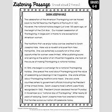 Free Thanksgiving Activity Listening Comprehension And Art Integration