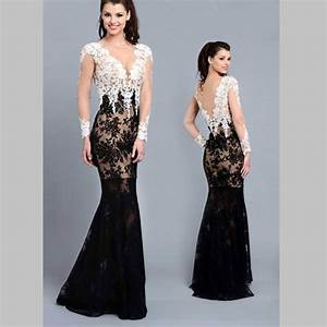 Prom Gowns With Sleeves Black And White | www.imgkid.com ...