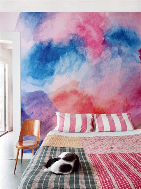 moving watercolor wall designs   home