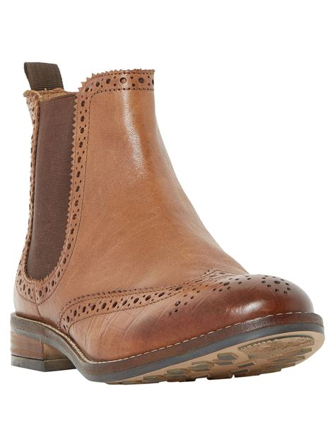 Dune Quentons Brogue Chelsea Boots at John Lewis & Partners