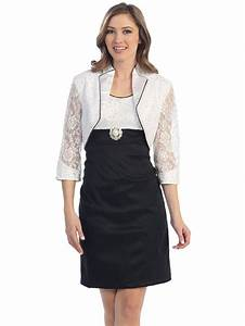 black and white cocktail dress with bolero jacket sung With cocktail dress with jacket for wedding