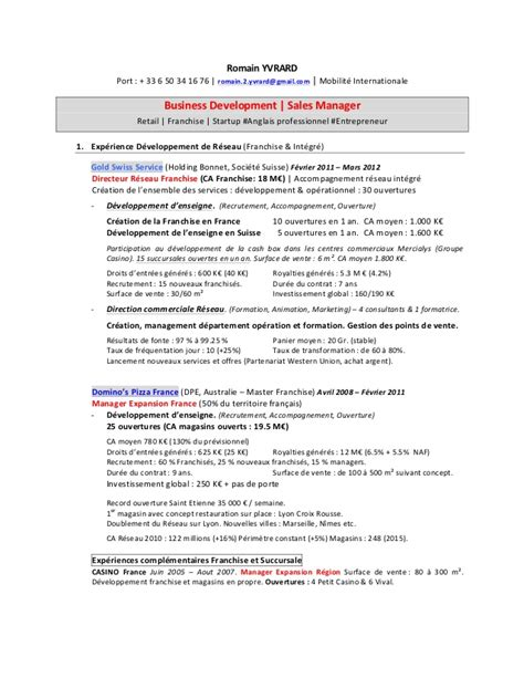 The Fault In Our Resume En Francais by Business Developement Sales Manager Yvrard Cv