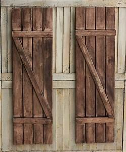 Rustic shutters farmhouse shutters country shutters for Barnwood shutters