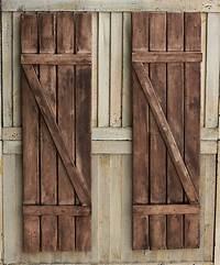 wood exterior shutters Rustic Shutters Farmhouse Shutters Country Shutters