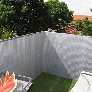 Sichtschutzzaun PVC Kunststoff Rgen Aluminium
