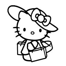 Hello Kitty Drawing For Kids Free download on ClipArtMag