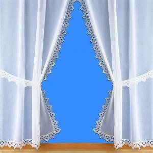 Rideaux Bonne Femme : voilages style rideaux bonne femme avec une finition en macram ~ Teatrodelosmanantiales.com Idées de Décoration