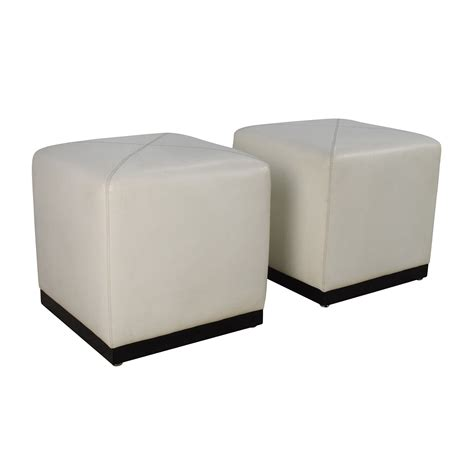 large white tufted ottoman large round ottomans coffee table appealing square ottoman
