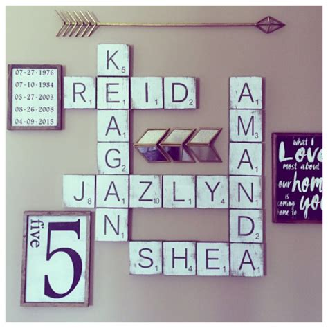 scrabble wall tiles gallery wall signs large scrabble
