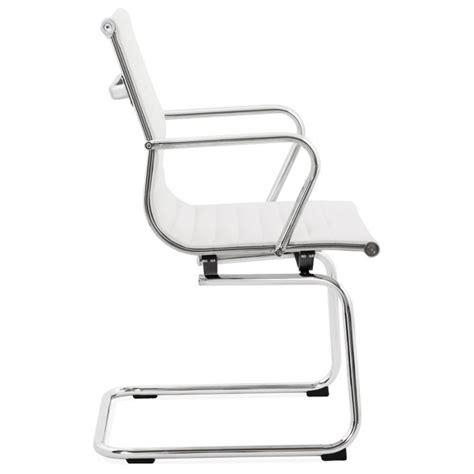 fauteuil de bureau cuir blanc fauteuil de bureau courol en simili cuir blanc français