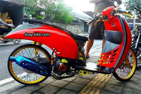 Modif Motor Mio Lama Merah by Modifikasi Motor Scoopy Merah Putih Automotivegarage Org