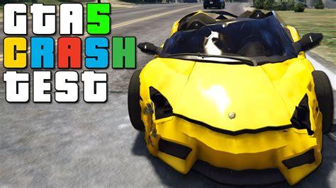 lamborghini reventon crash gta 5 lamborghini reventon roadster crash testing youtube