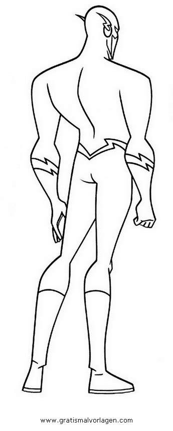 flash  gratis malvorlage  comic trickfilmfiguren