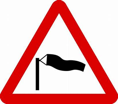 Signs Sign Road Wind Warning Cross Mauritius