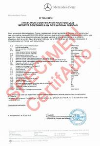 Certificat De Conformité Mercedes : certificat de conformit voiture mercedes ~ Gottalentnigeria.com Avis de Voitures