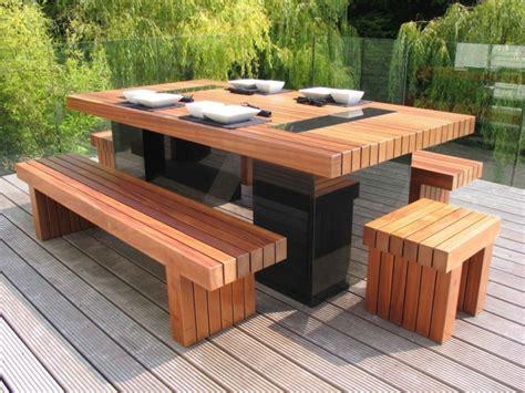 Gartentisch Holz Massiv Rustikal
