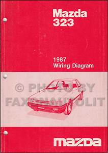 1987 Mazda 323 Sedan And Hatchback Wiring Diagram Original