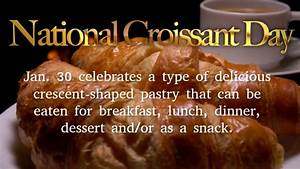 Flyers Design Products National Croissant Day Video Template Postermywall