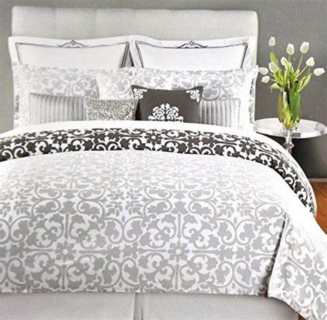tahari home comforter set tahari home 3pc luxury cotton duvet cover set charcoal