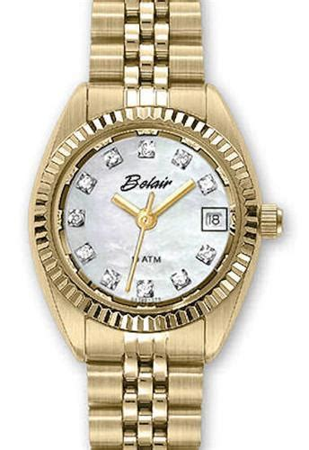 belair lady sport wrist watches genuine white mop dial