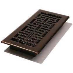 decor grates 4 in x 10 in steel floor register in rubbed bronze ajh410 rb at the home